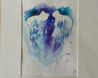 Original watercolour - Angel wings