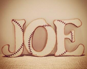 Baseball Nursery Wall Letters-Baseball Letters-Vintage Baseball-Nursery Letters-Baseball Room-Wood Letters-Wall Letters-Baseball Nursery