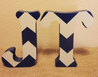 free standing chevron wood letters stand alone letters wood letters letter decor nursery decor stand up letters baby nursery letters