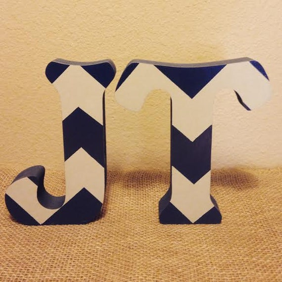 Free standing chevron wood letters stand alone letters wood for Standing wood letters to paint