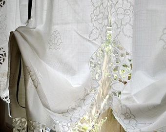 Sale Shabby Chic Drawnwork Balloon Curtains Pull Up