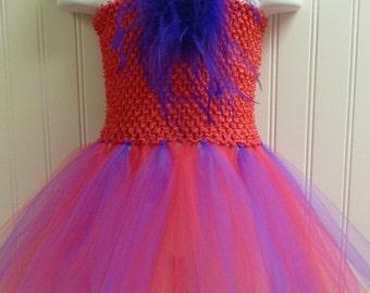 Tutu Dress Hot Pink and Purple/basic