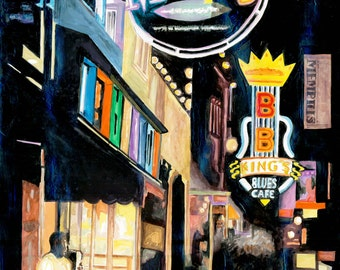 Memphis Blues Painting