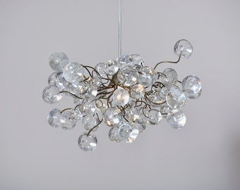 Pendant light with clear Transparent bubbles,  hanging lamp for Bathroom, living room or hall.