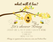 What will it BEE. 5x7 printable baby shower invite