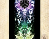 Totem - prints, a3 a4 a5 sizes.spirit,skull,animal,visions,psy,visionary,festival,dream,