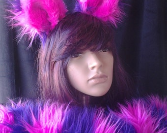 Cheshire Cat ears and tail, with wrist cuffs as additional option