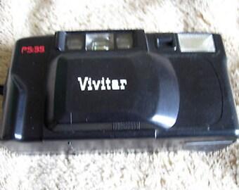Vivitar PS 35 Film Camera Point & Shoot Built in Flash Vintage C18-2