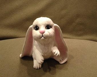 Ceramic white Easter bunny rabbit