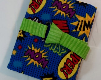Super Hero Comic Words Interchangeable Knitting Needle Case