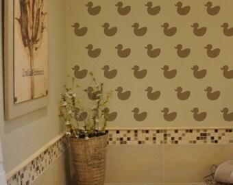 Rubber Duck Wall Stencil Reusable