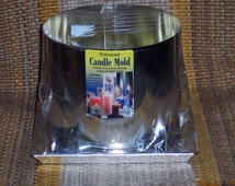 Candle mold,3 wick pillar candle,Yaley,6 inch diameter by 4.5 inch tall,aluminum metal mold,Professional,made in the USA