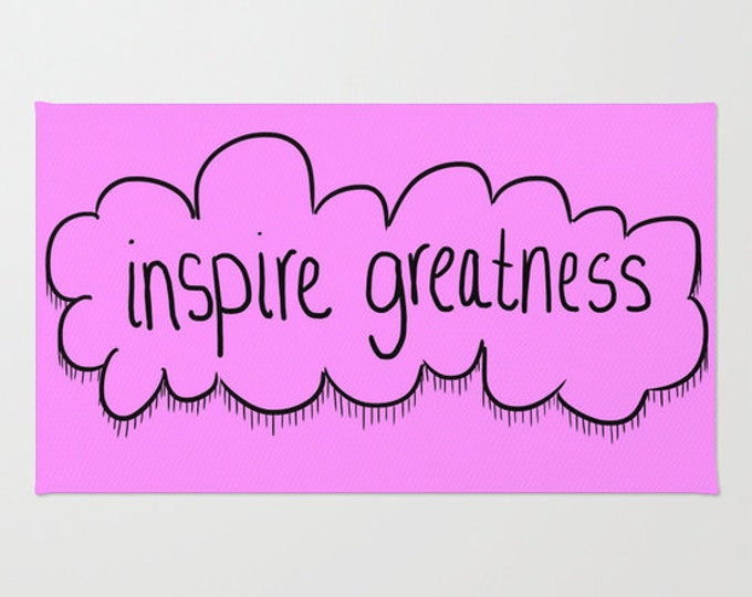 Floor Rug - Door Rug  - Inspire Greatness - Motivational Floor Rug - Throw Rug - Bathroom Decor - Made to Order