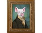 Pig Magnet, Mister Piggy, Refrigerator Magnet, Pig Gifts