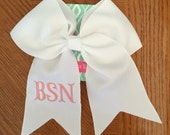 Graduation Cap Bow. Darling Boutique Hair Bows.  Hair Accessories.  Grosgrain Ribbon. Cheerleading Bow. Large Bow. Personalized. Monogram.