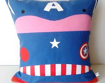 Captain America Avengers Marvel Pillowcase Cushion cover cotton 40x40cm 16x16 inch