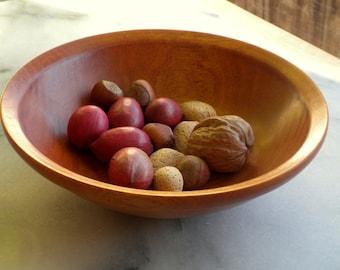 wooden bowl, ash wood, nut bowl, salsa bowl, handmade, golden amber color