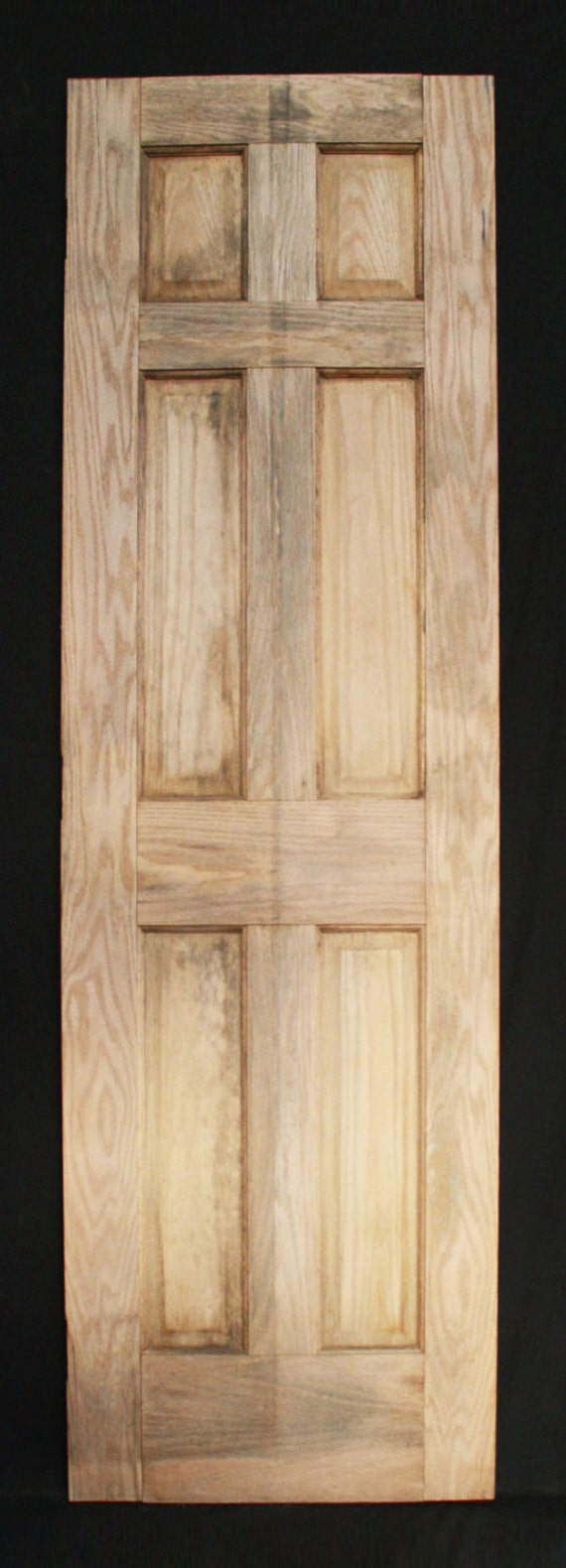 "24""x80"" stripped vintage colonial style interior oak solid wood"