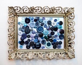 Vintage Button Set, 70 Blue Button Collection