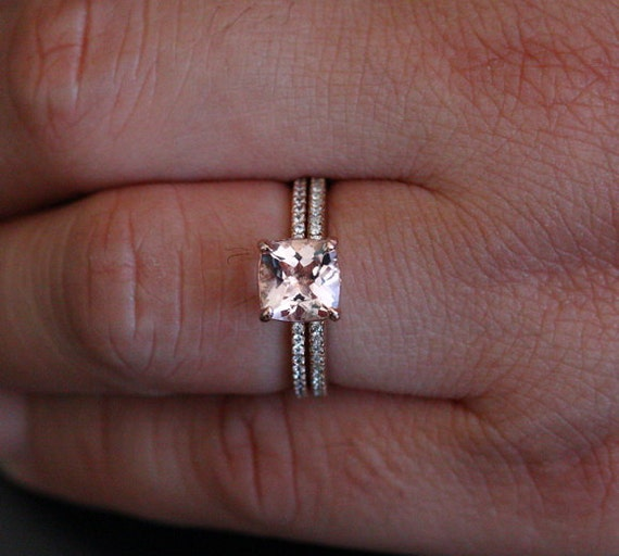 limited Time Deep DISCOUNT Pink Morganite Engagement Ring