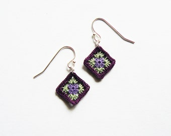 Dainty Granny Square Earrings