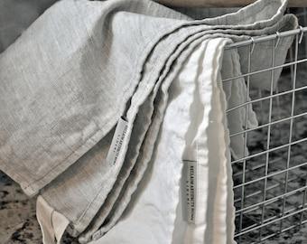 Rustic Washed Linen dishtowel