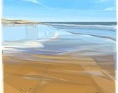 On the Beach .. mounted giclee print