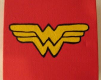 """DC Wonder Woman Canvas Picture 4""""x4"""""""