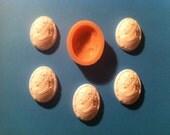 FEMALE FACE CAMEO, Food Grade Silicone Mold for Fondant, Chocolate, Sugar Craft etc.