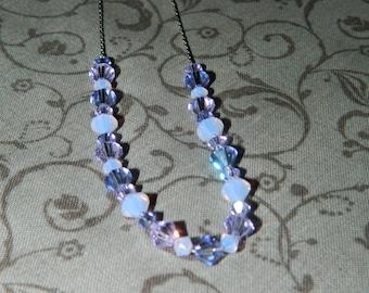 Lavender Swarovski Crystal Beaded Necklace