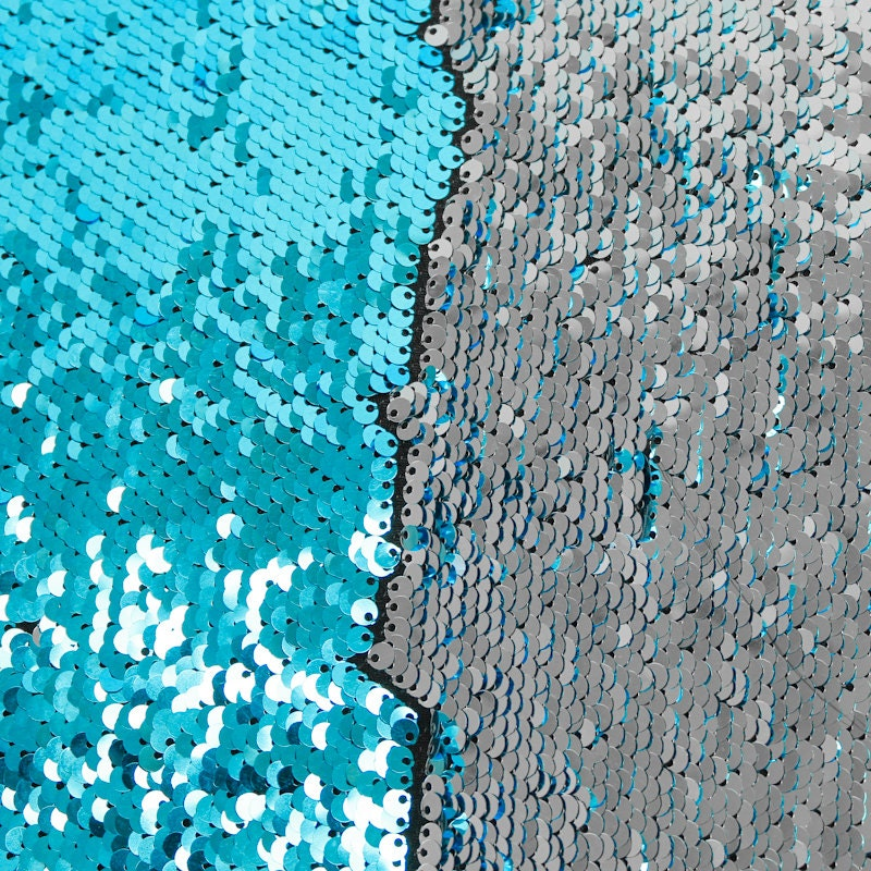 Reversible Mermaid Pearl Sequin Spandex Fabric Two Sided