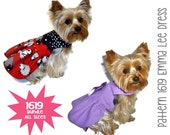 Emma Lee Dog Dress Pattern 1619 * Bundle All Sizes * Dog Dress Pattern * Designer Dog Dress * Dog Harness Dress * Dog Apparel * Pet Dress