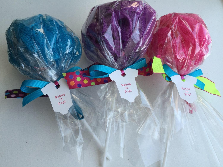 Girls Spa Party Favor Bath Puff Lollipop