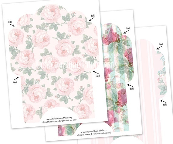 4X6 Envelopes Printable Envelope Template Pink Envelope Floral