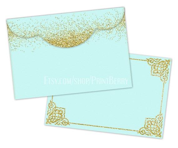 Gold glitter envelopes 4x6 Envelopes Printable envelope