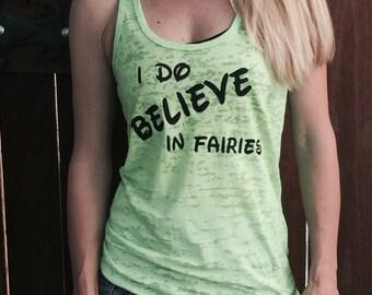 I Do Believe In Fairies Fitness Tank Top