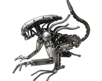 Medium Crouching Space Monster 2 Sculpture