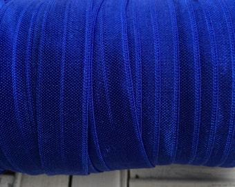 Cobalt Blue Fold Over Elastic  - 5 Yards