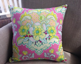"""Heather Bailey Pop Garden """"Pineapple Brocade"""" in pink 45cm cushion cover/pillow backed with EST linen"""