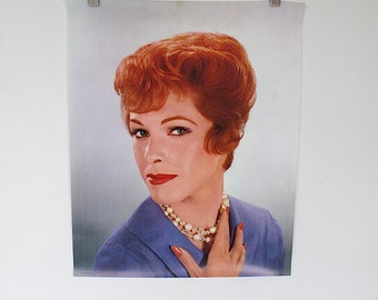 Vintage Poster - Beauty Salon Decor - Retro 1960s Hairstyle - Hair Salon Decoration - Redhead Portrait