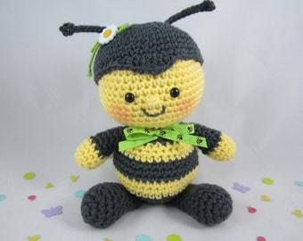 Crochet Bee, Stuffed Animal Bumble Bee Plush, Crochet Stuffed Toy, Toy Bumble Bee, Amigurumi Bee by CROriginals