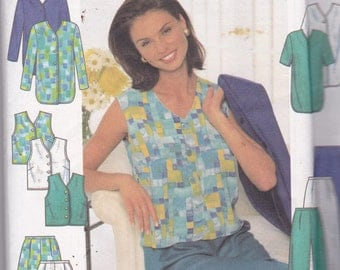 Simplicity 7503 Vintage Pattern Womens Jacket and Top , Shorts and Pants Size 8,10,12 UNCUT