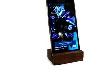 Smart Phone Stand, Galaxy S5/S4/S3  IPhone  Cell Phone Stand / Dock - Oak, Walnut, Poplar