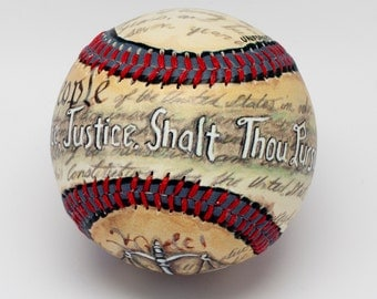 Justice Baseball, Judge Baseball, Lawyer Gift, Lawyer Graduate, Oath, Gift for Law School, Gift for Judge (HERO02)