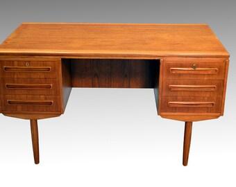 Teak Desk Svenstrup Mid Century Danish Modern