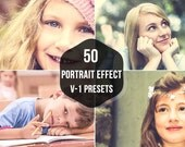 50 Portrait Lightroom Presets for Photography Editing Retouching