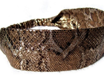 Snake Skin Headband for Ladies or Women by Sheylily