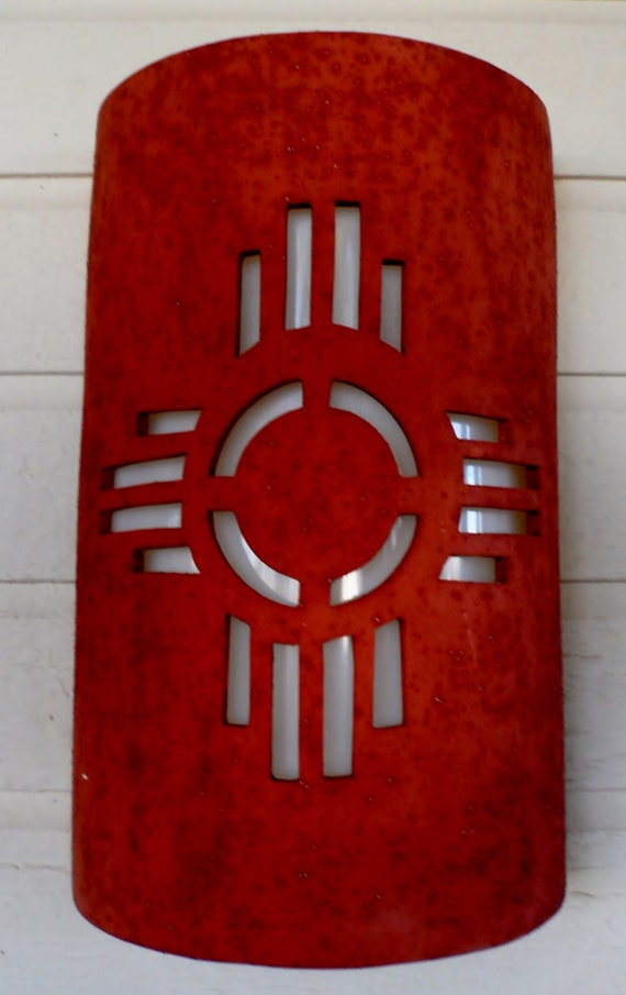 New Mexican Wall Sconces : New Mexico symbol Outdoor Wall Sconce by CustomCutLighting on Etsy