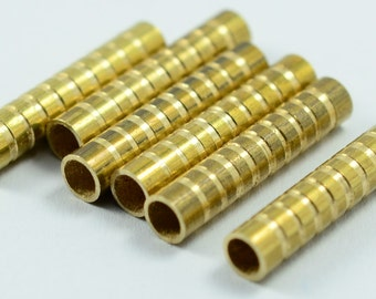 20 Pieces Raw Brass  4x20 mm Industrial Tube Spacers Connectors