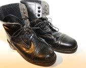 Vintage Black Combat Boots